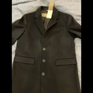 Burberry Mens Wool/Cashmere Blend Overcoat Size 50
